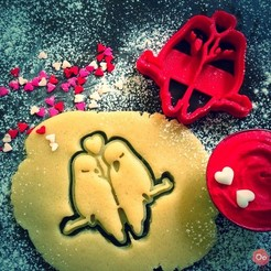Download free 3D printer designs Love Birds Cookie Cutter, OogiMe