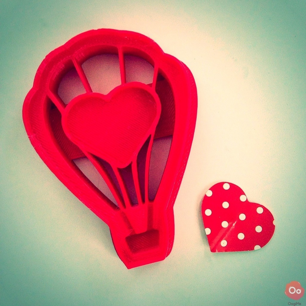 IMG_8241.jpg Download free STL file Love Balloon Cookie Cutter • 3D printer design, OogiMe