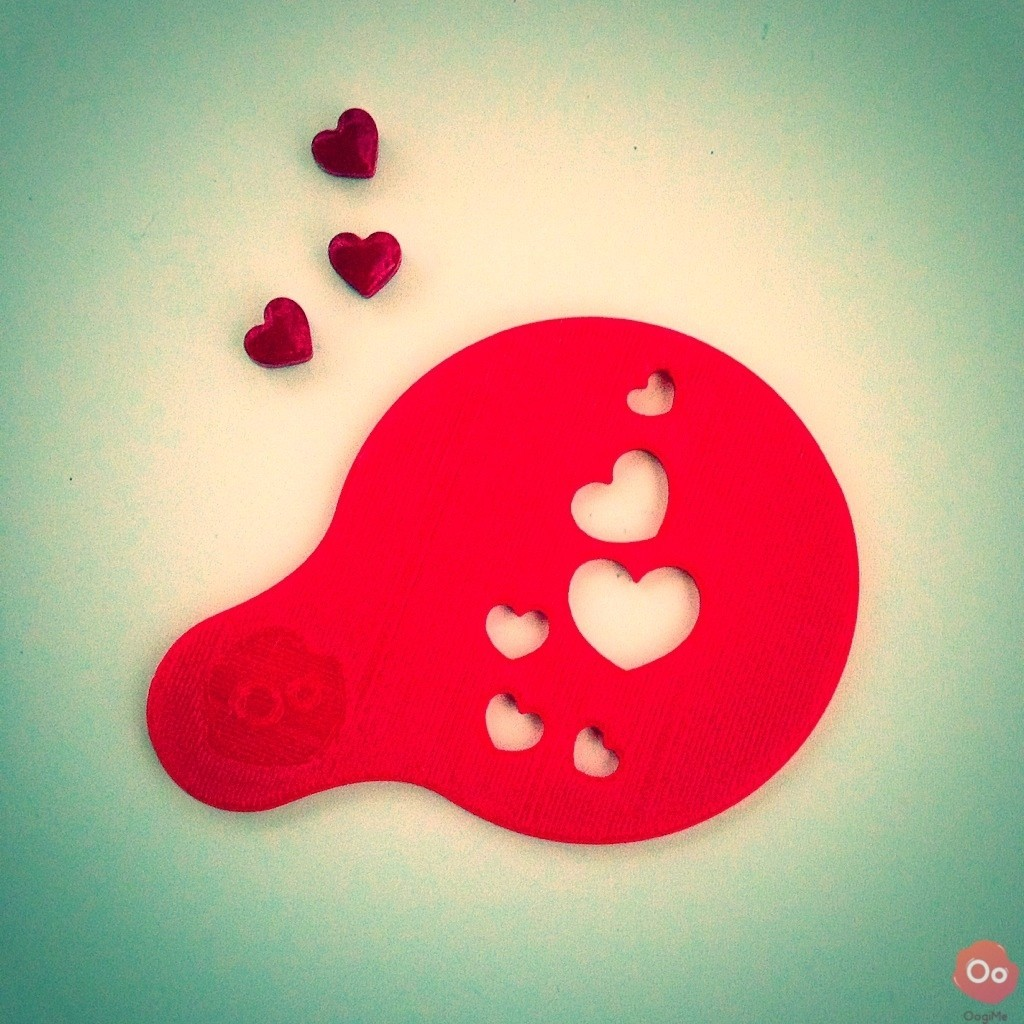 IMG_8381.jpg Download free STL file Hearts & Kiss Coffee Decoration Templates • 3D printing model, OogiMe