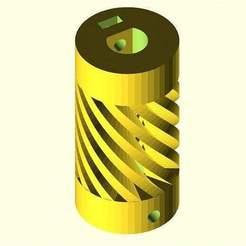 Flexible_Coupling_param_01.jpg Download free SCAD file Parametric Flexible Coupling • 3D print model, MarcoAlici