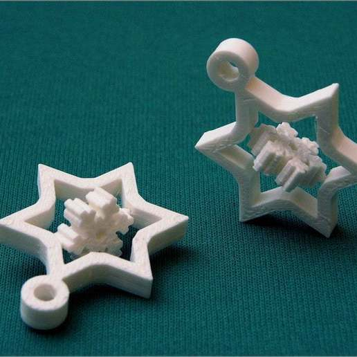 Download free STL Optimized (Small) Gyroscopic Snowflake, MarcoAlici