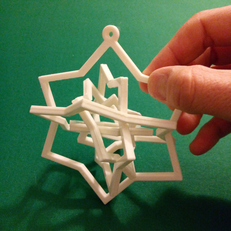 C360_2014-12-06-18-52-17-262.jpg Télécharger fichier STL gratuit Ornement à six étoiles pivotantes • Plan pour impression 3D, MarcoAlici