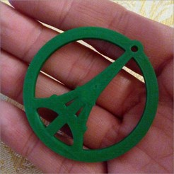 Download free STL Yet Another Peace for Paris pendant, MarcoAlici