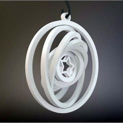 Download free STL Yet Another Gyroscopic Christmas Ornament, MarcoAlici