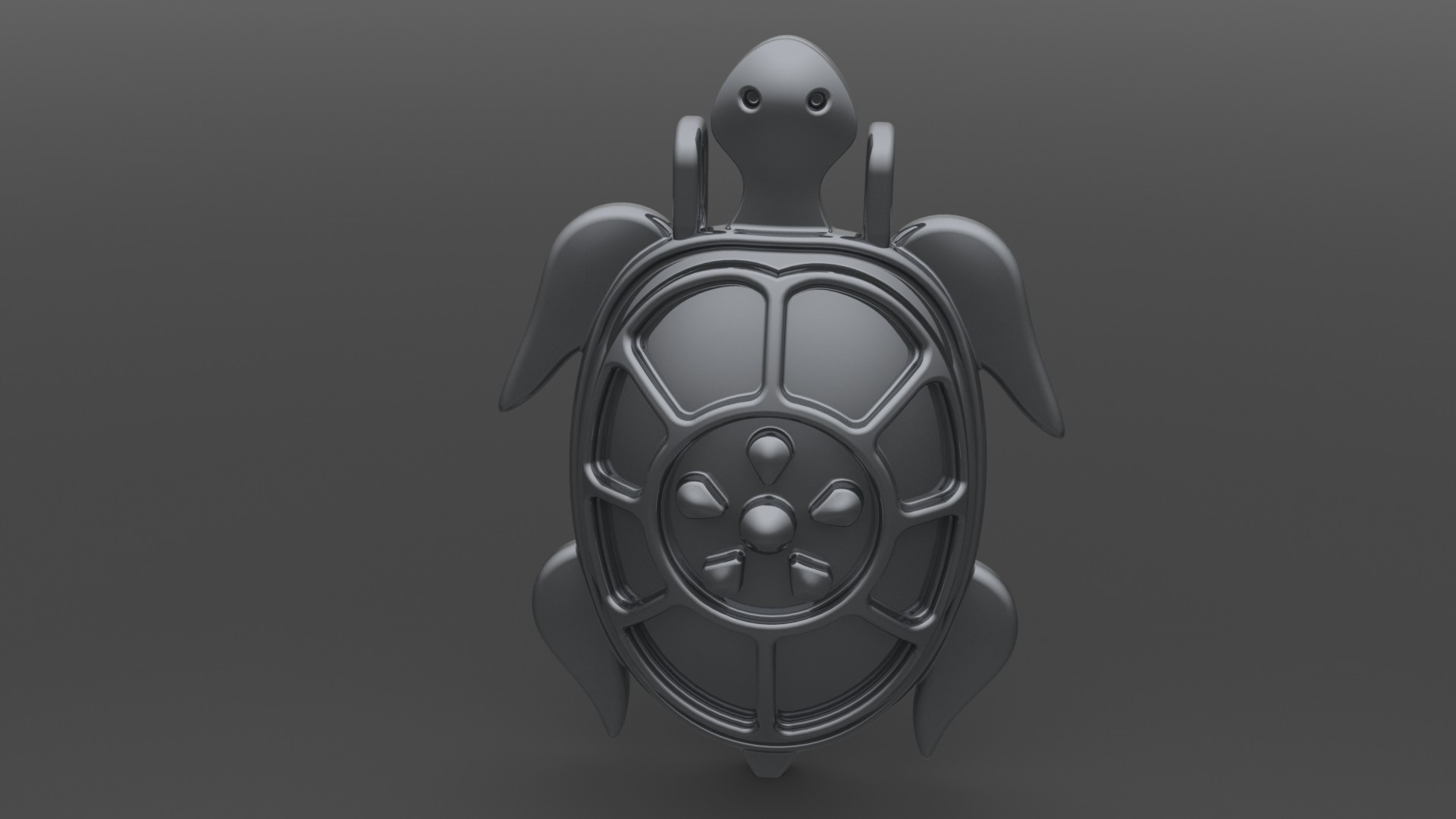 pendentif_tortue.JPG Download STL file turtle pendant • 3D print template, valentinf