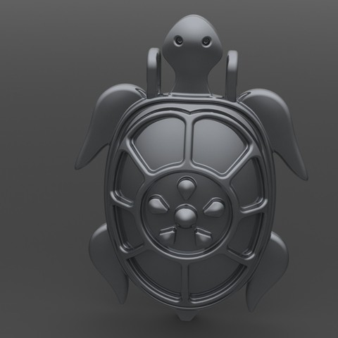 pendentif tortue 3D printer file, valentinf