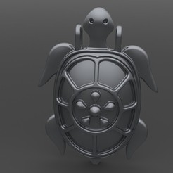 Download 3D printing models turtle pendant, valentinf
