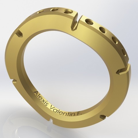 Download STL file ring corrugated fragment T51 • 3D printable object, valentinf