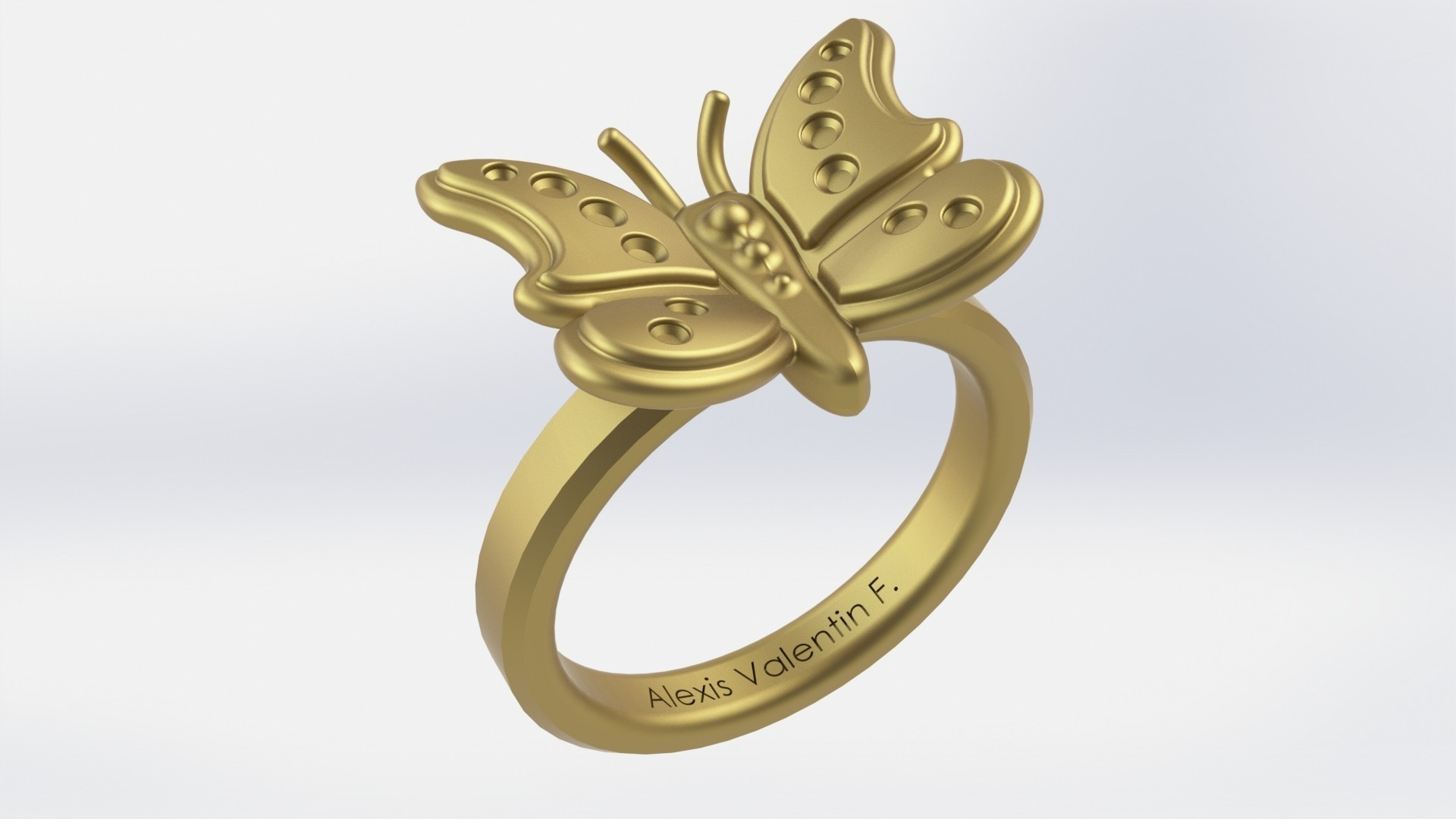 bague_papillon.JPG Download STL file butterfly ring T51 • 3D print object, valentinf
