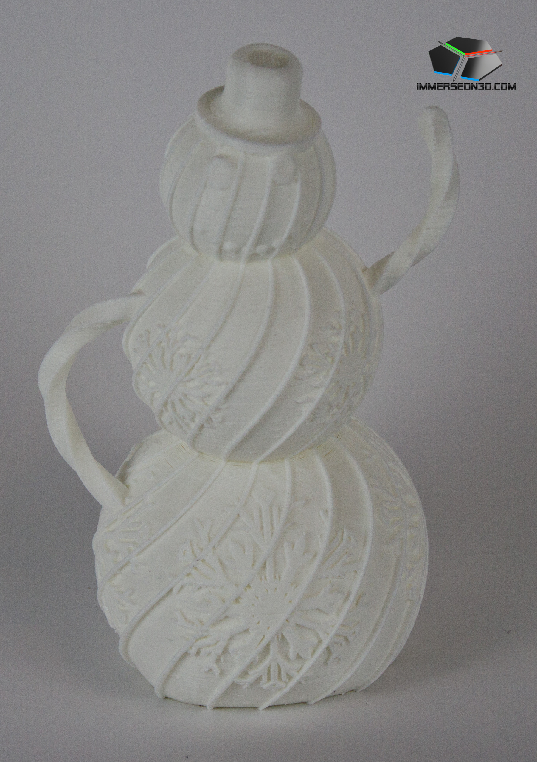 2014-12-19_IMG_1002_ImmersedN3D.jpg Download free STL file Decorative Holiday Snowman • 3D printing design, ImmersedN3D