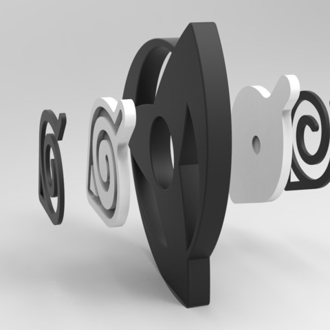 untitled.879.jpg Download STL file Hand Spinner Naruto • 3D printer template, Guich