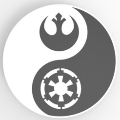 untitled.887.jpg Download STL file Yin Yang Star Wars • 3D printing model, Guich