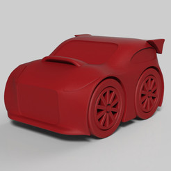 Download 3D printing models cartoon car, Guich