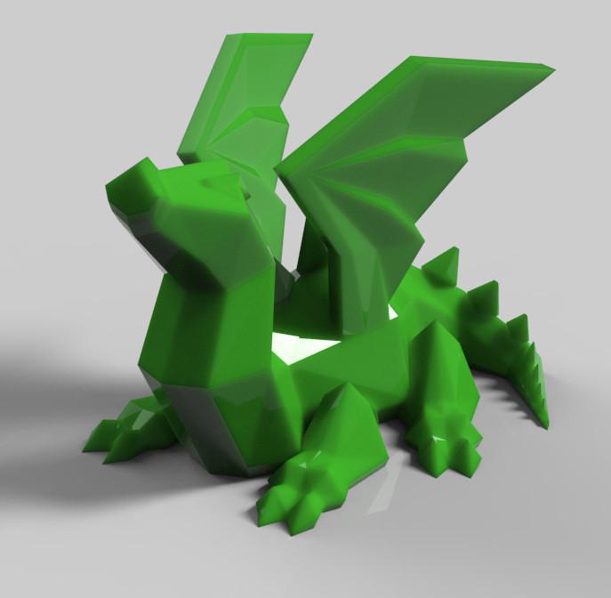 untitled.530.jpg Download STL file dragon ailé • 3D printer model, Guich