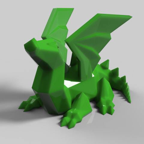 Download 3D printer templates dragon ailé, Guich