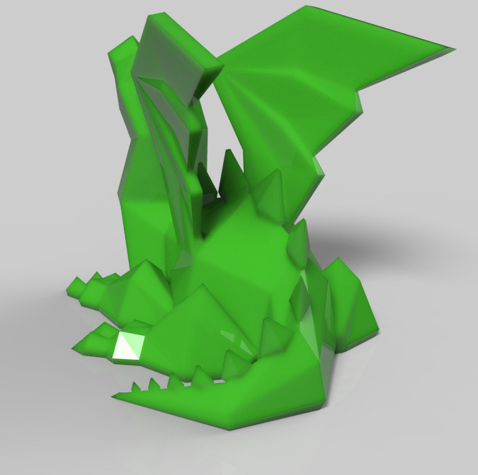 untitled.533.jpg Download STL file dragon ailé • 3D printer model, Guich
