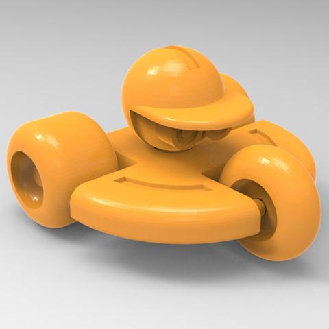 Modèle 3D robot roulant, Guich