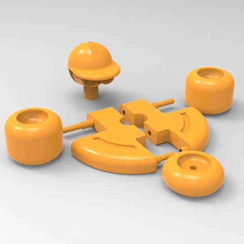 3D print model rolling robot, Guich
