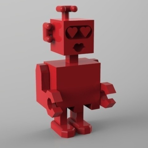 Download STL file robot amoureux • 3D printable design, Guich