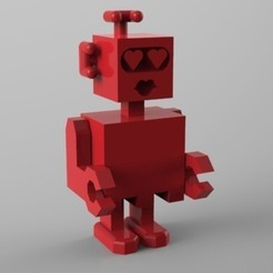 Download 3D printing files robot amoureux, Guich
