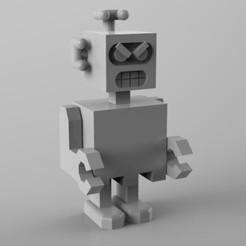 Fichier imprimante 3D robot énervé, Guich