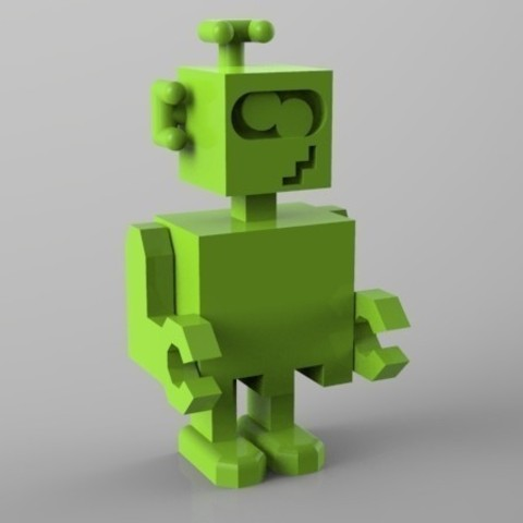 robot fou 3D model, Guich