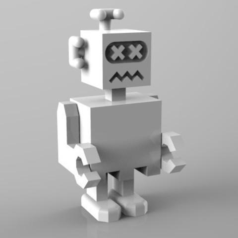 robot K.O. 3D model, Guich
