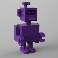3d printer model robot qui tire la langue, Guich
