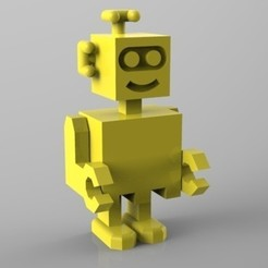 untitled.562.jpg Download STL file robot souriant • 3D printing design, Guich