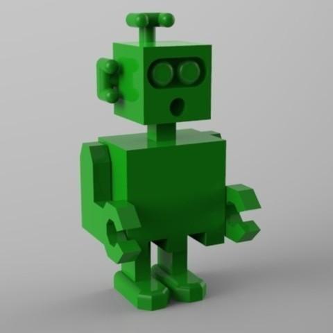 robot surpris 3D model, Guich