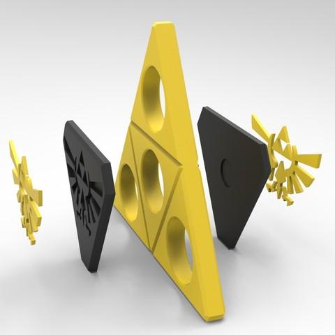 Z3.jpg Download STL file Hand Spinner Zelda • Template to 3D print, Guich