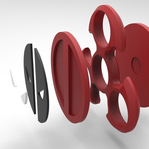 untitled.871.jpg Download STL file Hand Spinner Deadpool • 3D printer design, Guich