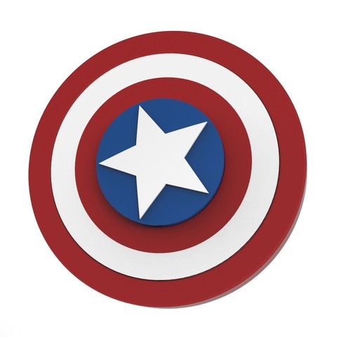 Download STL file Hand Spinner Captain America • Model to 3D print, Guich