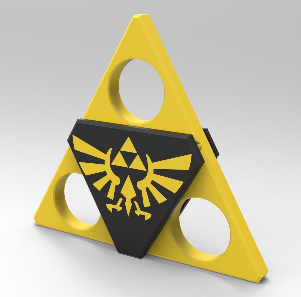 Z2.jpg Download STL file Hand Spinner Zelda • Template to 3D print, Guich