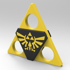 Z2.jpg Download STL file Hand Spinner Zelda • Template to 3D print, Guich