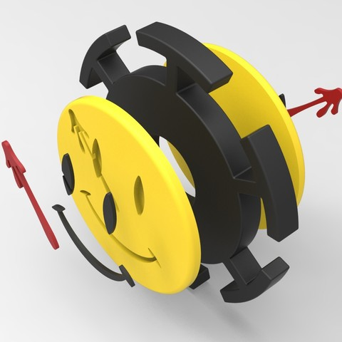 WM3.jpg Download STL file Hand Spinner Watchmen • 3D printer model, Guich