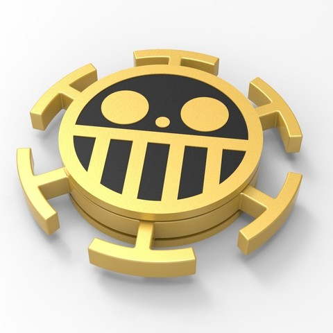 Download STL file Hand Spinner One Piece • 3D printer design, Guich