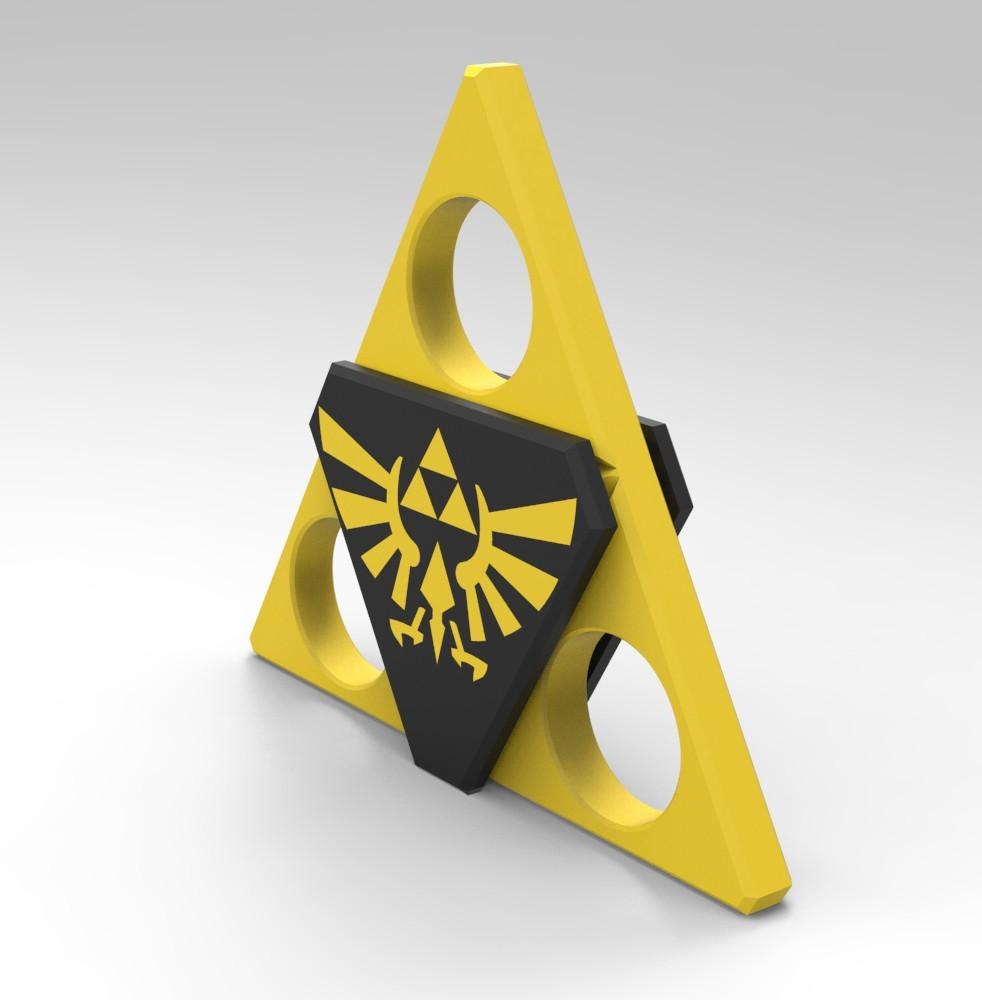 Z1.jpg Download STL file Hand Spinner Zelda • Template to 3D print, Guich