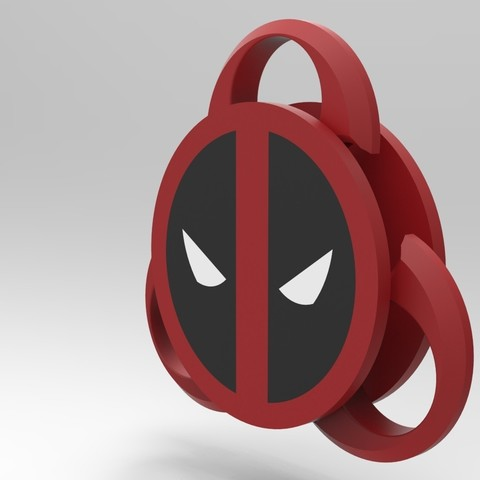 untitled.870.jpg Download STL file Hand Spinner Deadpool • 3D printer design, Guich