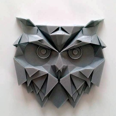 Free 3D print files Geometrical owl, 28Labels