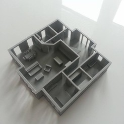 Download free STL file furnished house • 3D printable design, 28Labels