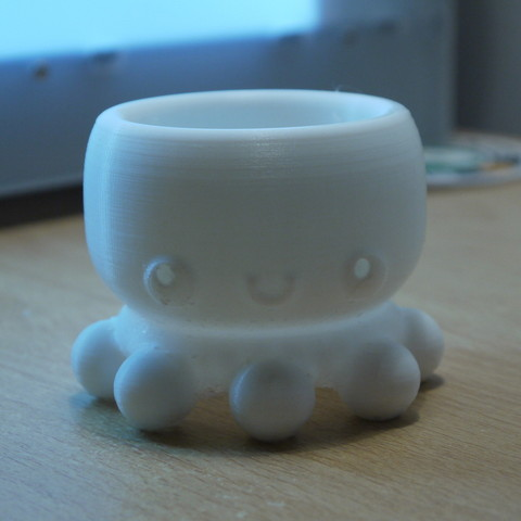 Free Kawaii Octopus - Holder/Container 3D model, ThePursuit