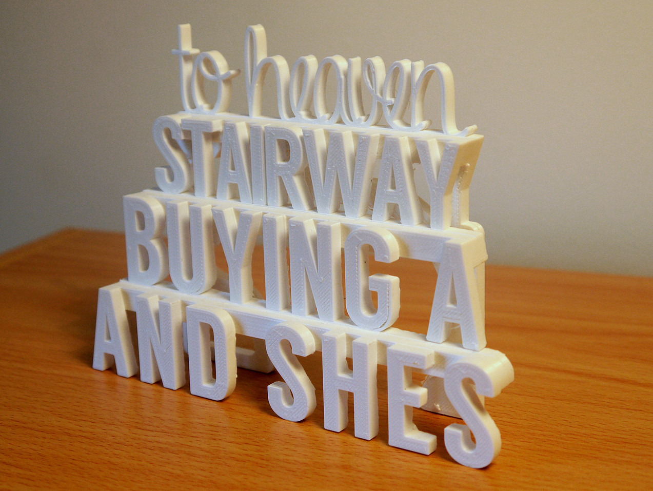 P1060424.JPG Download STL file Stairway to Heaven - 3D Printed Art (Led Zeppelin) • 3D printer object, ThePursuit