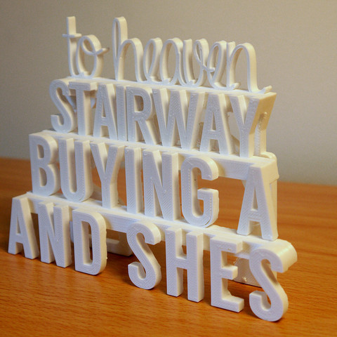 3d printer files Stairway to Heaven - 3D Printed Art (Led Zeppelin), ThePursuit