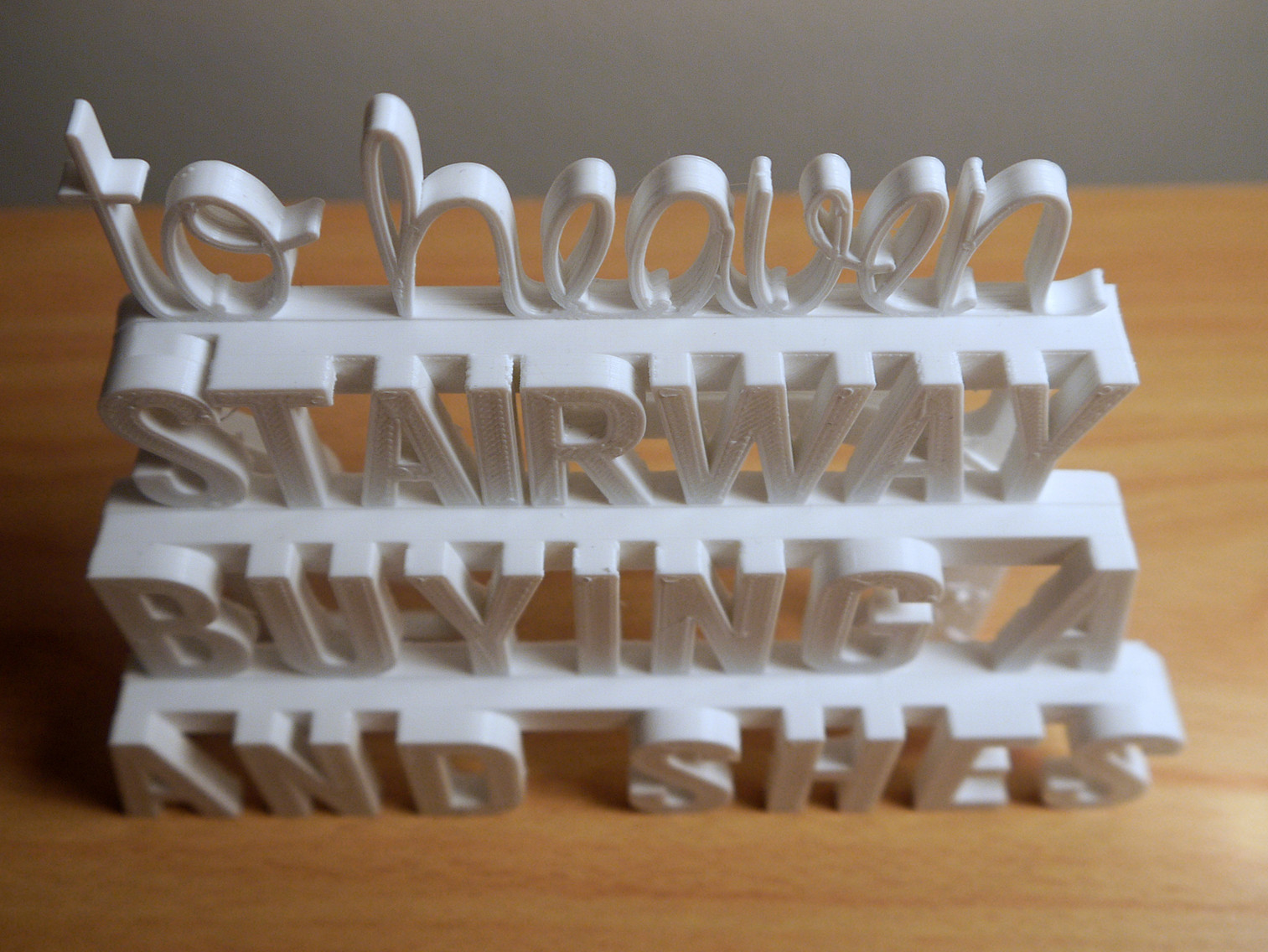 P1060395.JPG Download STL file Stairway to Heaven - 3D Printed Art (Led Zeppelin) • 3D printer object, ThePursuit