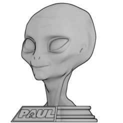 Free 3D printer designs PAUL extraterrestrial, MickaIDEEMAKER