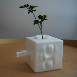 Free 3D printer files blockhead vase, Fonzy