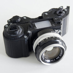 Free 3D file 3DPrinted Camera - Open Reflex, LeoM