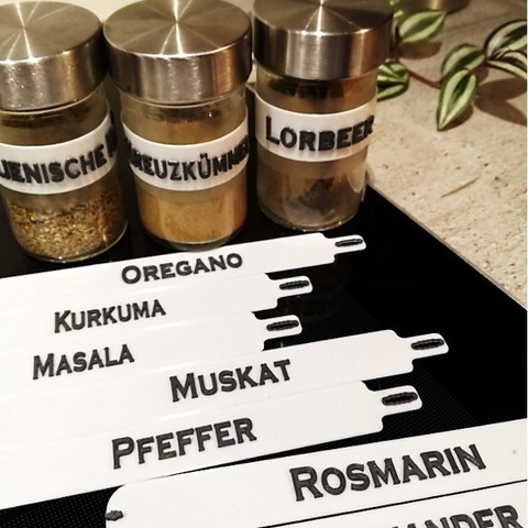 Free 3D model Spice Labels for IKEA DROPPAR, patschobot
