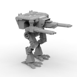 Impresiones 3D gratis Un robot titánico Wardog completamente posicionable, jdteixeira